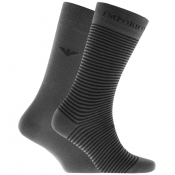 Product Image for Emporio Armani 2 Pack Socks Grey